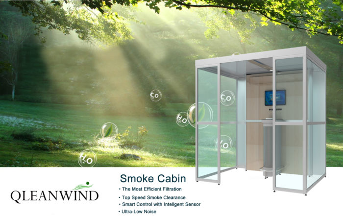 smoke air purification system for second-hand smoker